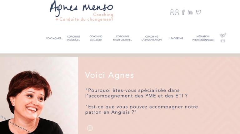 Refonte site Agnes Menso