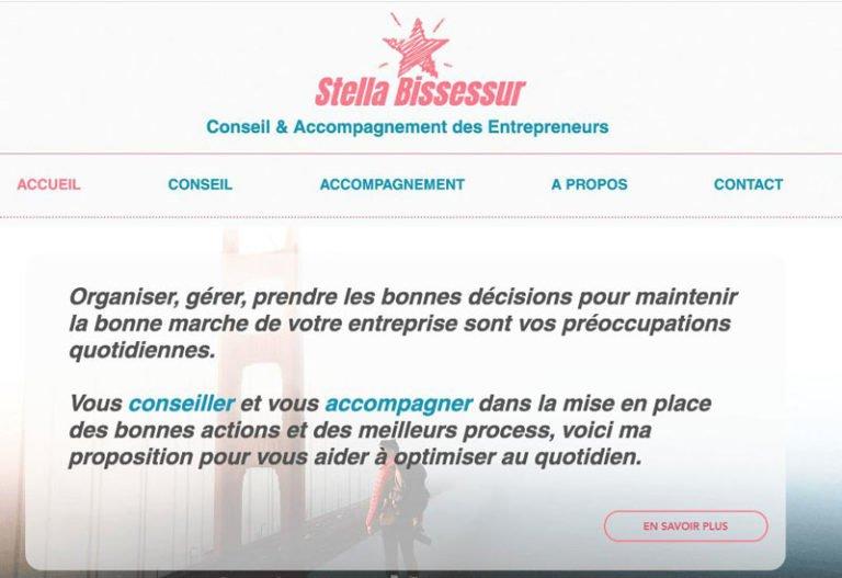 Optimisation SEO du site internet Vitrine Stella Bissessur