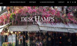 Realisation du site WordPress Deschamps Fleuriste Paris